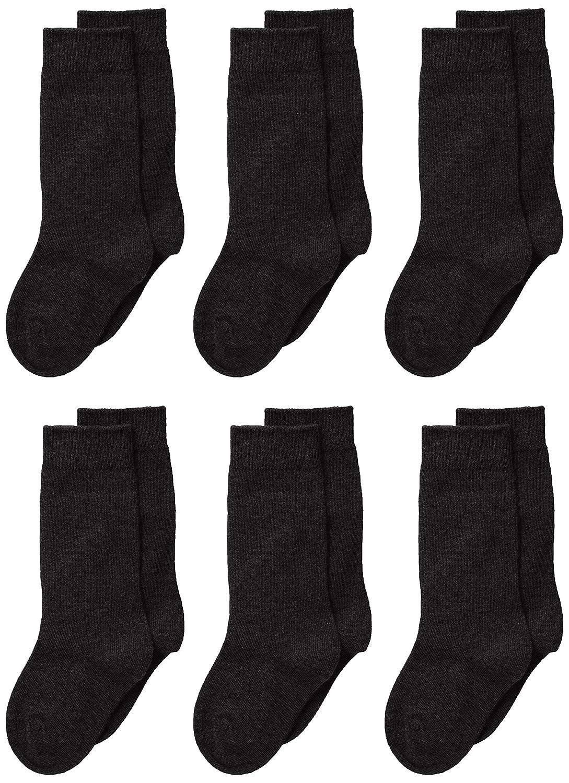 Jefferies Socks Baby Girls Seamless Cotton Knee High 6 Pair Pack Toddler Black