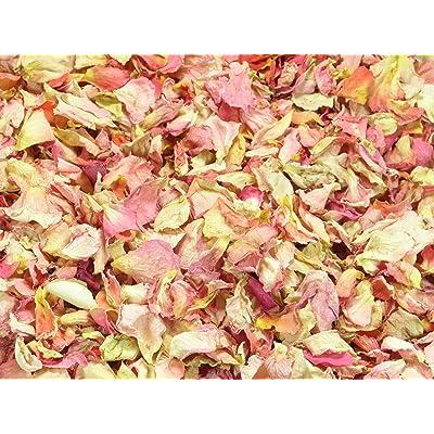 1litre Naturel Pétale Confetti–biodégradable–Bon Nombre de mélange de couleurs, DE type et Options disponibles flamant rose