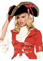 Leg Avenue Unisex - Adult Pirate Hat With Ribbons