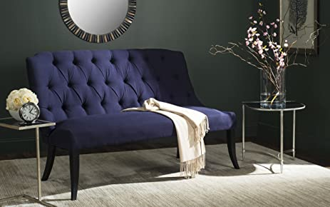 Ordinaire Safavieh Livingston Collection Valerie Settee, Navy