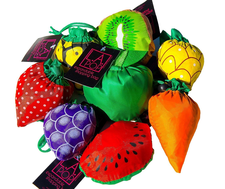 Amazon.com: LA Pop Design Expandable Shopping Bags. Reusable ...