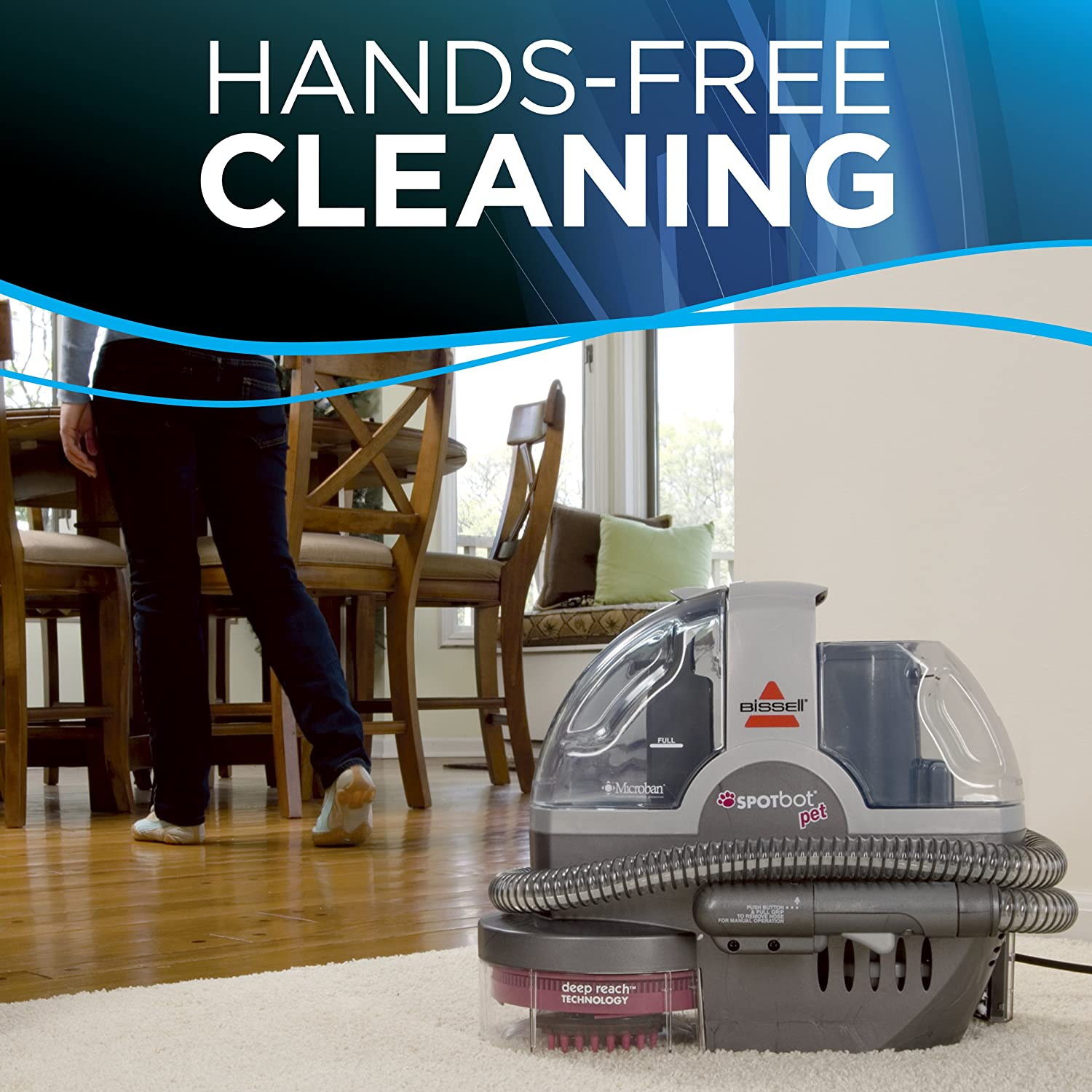 Amazon bissell spotbot pet handsfree spot and stain portable amazon bissell spotbot pet handsfree spot and stain portable carpet and upholstery cleaner 33n8a home kitchen fandeluxe Image collections