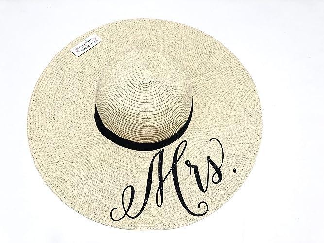 1e4956c60 Amazon.com: Mrs Hat, Wifey Hat, Just Married Honeymoon Beach Floppy ...