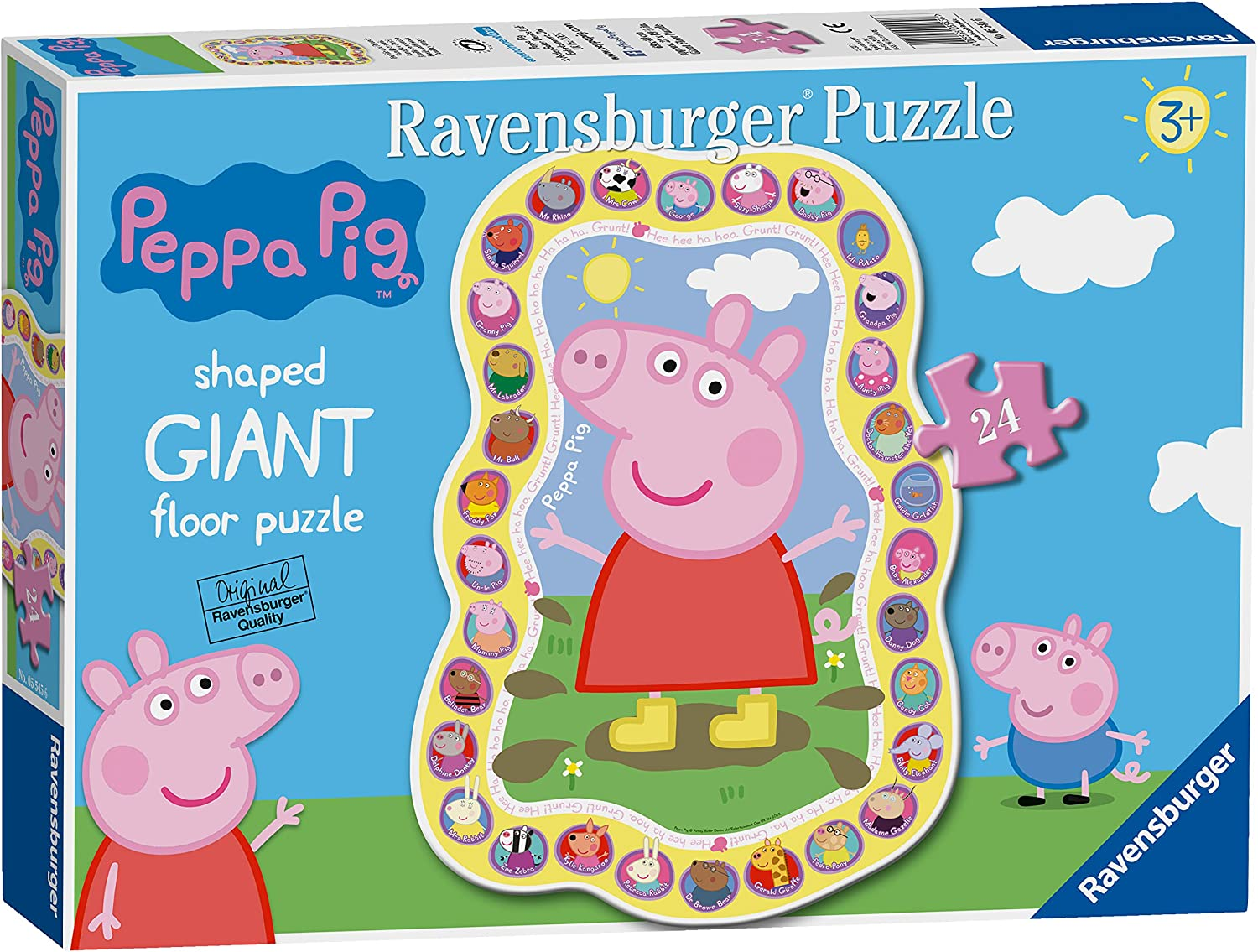 NEW Ravensburger Peppa Pig Family Celebrations 24 piece giant floor puzzle 3+