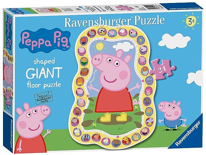 Ravensburger Peppa Pig, puzzle gigante de 24 piezas: Amazon.es: Juguetes y juegos