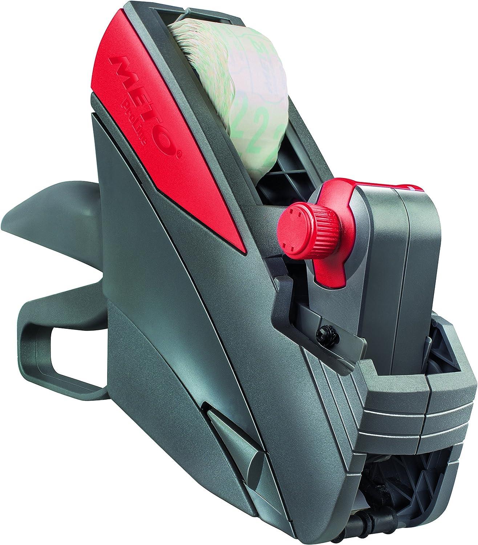 Original meto Proline S, profesional Etiquetadora de precio 9505477(1línea, 10dígitos para 26x 12mm etiquetas, listo) 1–Etiquetadora (, Gris de color rojo