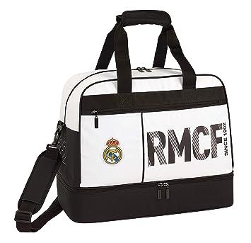 Real Madrid CF Bolsa de Deporte, Viaje con zapatillero: Amazon.es: Equipaje