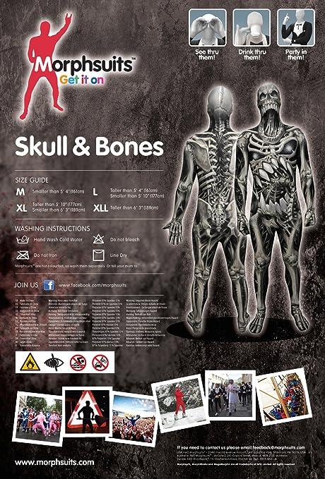 Morphsuits Men S Monster Skull And Bones Costume Skeleton Multi Medium Amazon Ca Clothing Accessories