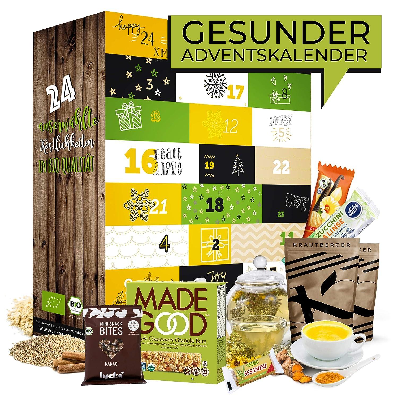 Bio GESUNDER Advent Kalender I Healthy Weihnachtskalender mit 24