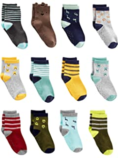 Simple Joys by Carters Baby and Toddler Boys 12-Pack Sock Crew
