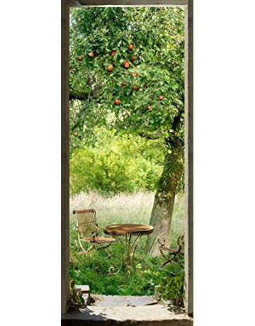 PLAGE Picnic En La Hierba Trampantojo de Puerta, Vinilo, 83x3x204 cm