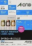 エーワン ラベルシール インクジェット 超耐水 光沢紙 1面 10枚 64201