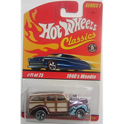 Hot Wheels 1940's Woodie Classics Series 1 - Purple 11 of 25: Toys & Games