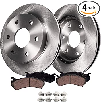2001 2002 2003 GMC Sonoma 4WD OE Replacement Rotors w//Ceramic Pads F+R