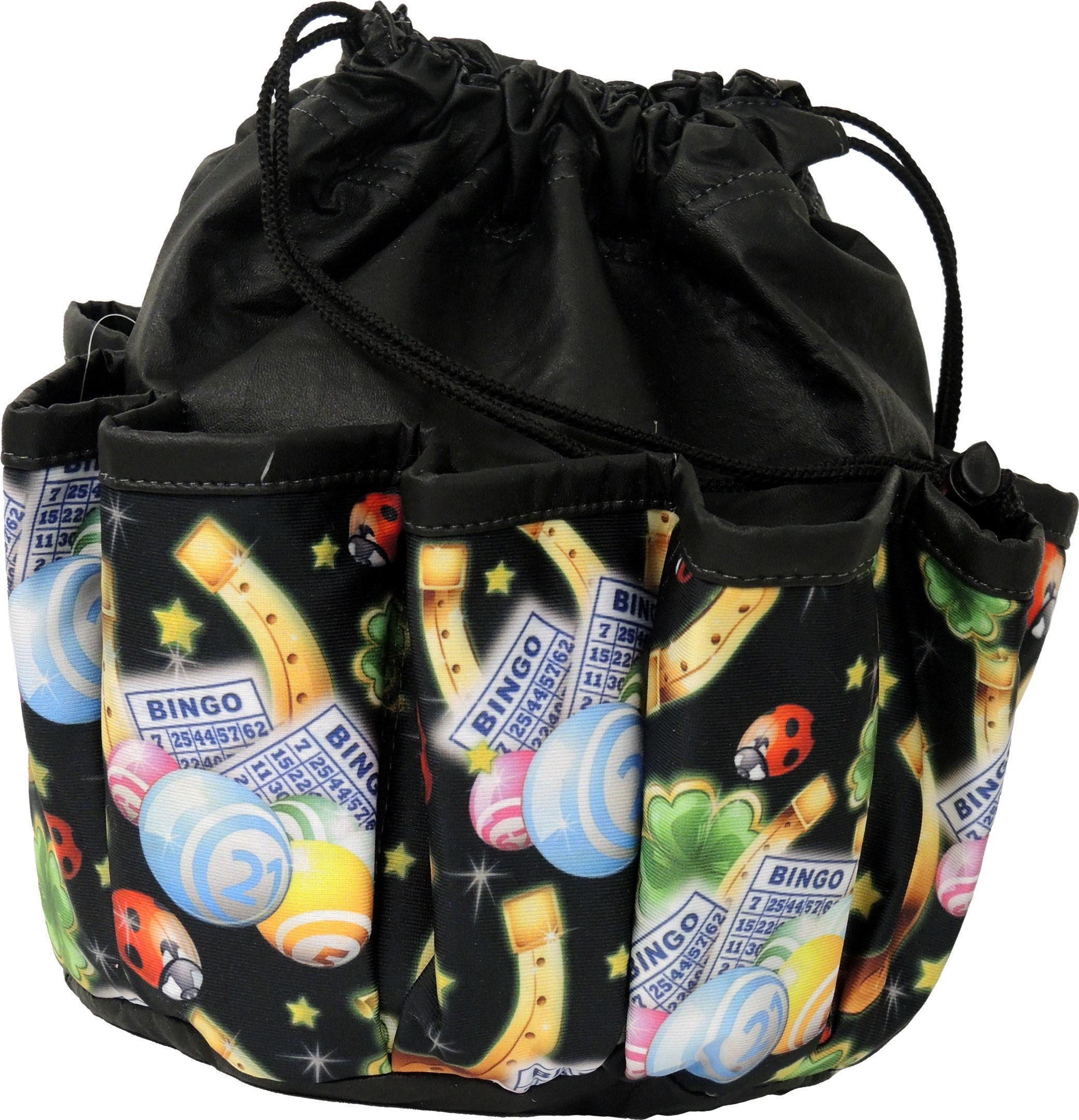 Nannicola Lucky Charms 10-pocket Dauber Bag Vinyl Black