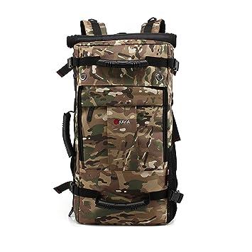 7fad5d40ae8f9 Trekkingrucksack Wasserabweisend für Damen und Herren Outdoor Rucksack 45L  Wanderrucksack Camping Travel Hiking Camouflage