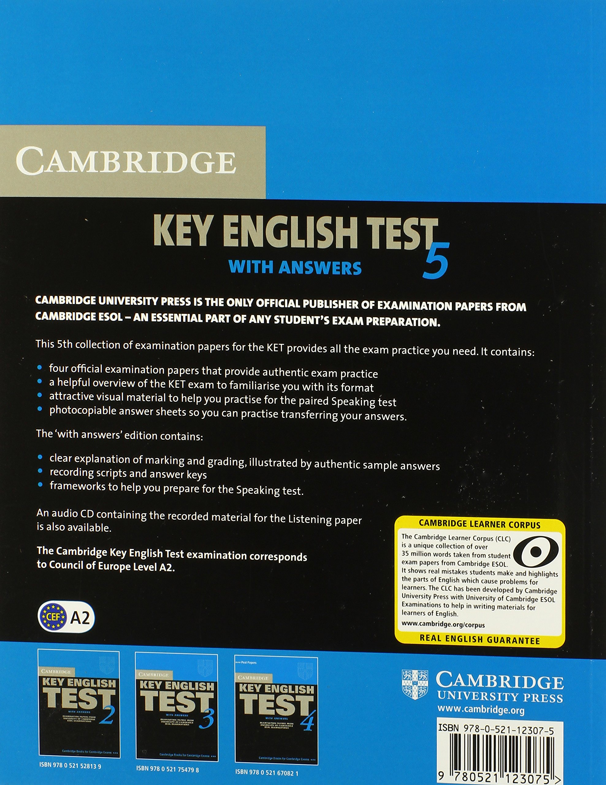 Buy Cambridge Key English Test 5 Student's Book with answers: Official  Examination Papers from University of Cambridge ESOL Examinations (KET  Practice ...