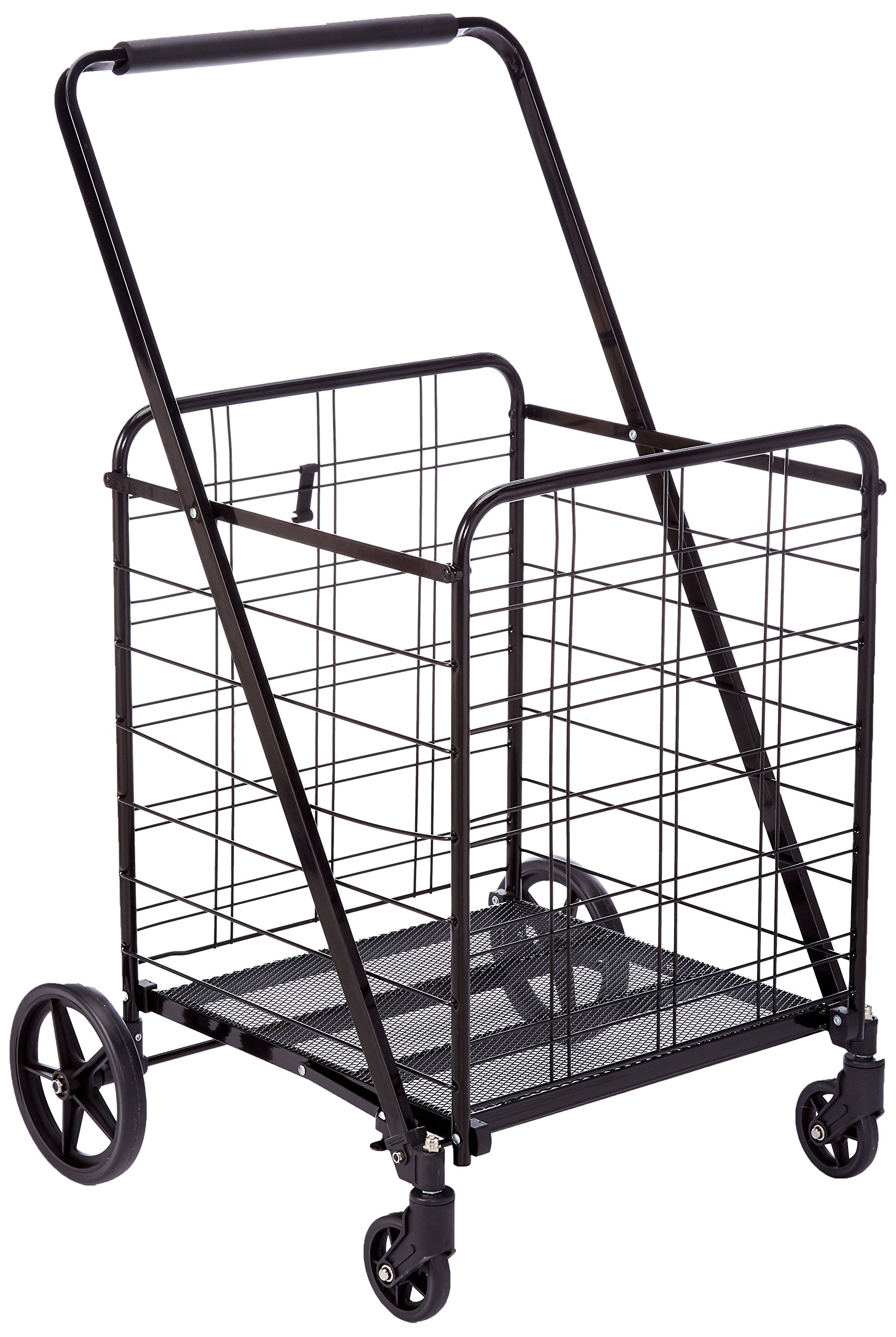 Uniware 360 Degree Wheel Folding Super Jumbo Shopping Cart 51.25 X 8 X 27 Inch (Black) [1203]