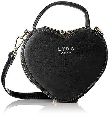 LYDC London Women G1861 Cross-Body Bag Black Black (Black 001 ... b50dd3b4cf