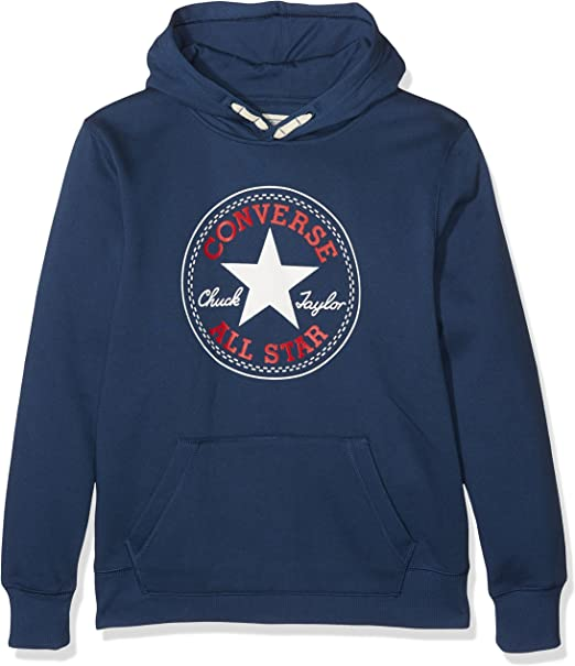 Converse Core Pullover Hoodie, Sweat Shirt à Capuche Garçon