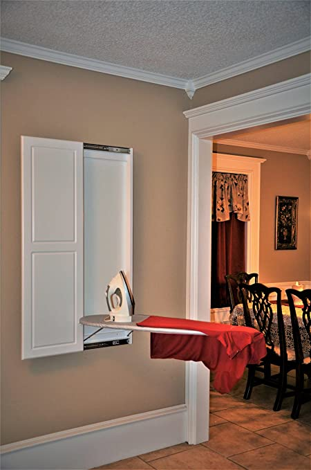 Slide Away Wall Mounted Ironing Board With Double Panel Door