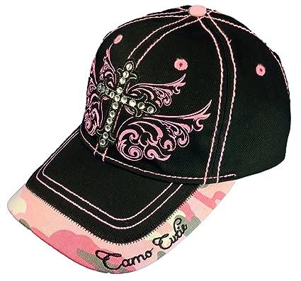 f41ff9d0837 Image Unavailable. Image not available for. Color  Camo Cutie Cap Ladies  Black Pink ...