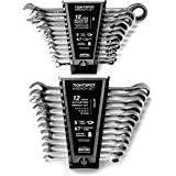 24pc IN/MM TIGHTSPOT Ratcheting Wrench Set - MASTER SET Including Inch & Metric With Quick Access Wrench Organizer - Our stan