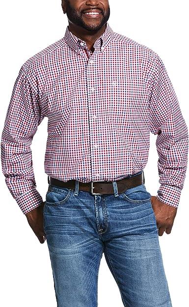 ARIAT 10031808 - Camisa de manga larga a cuadros para hombre ...