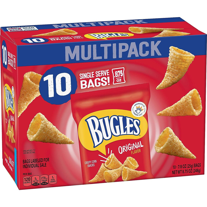 Bugles Original Flavor Crispy Corn Snacks, 10 ct