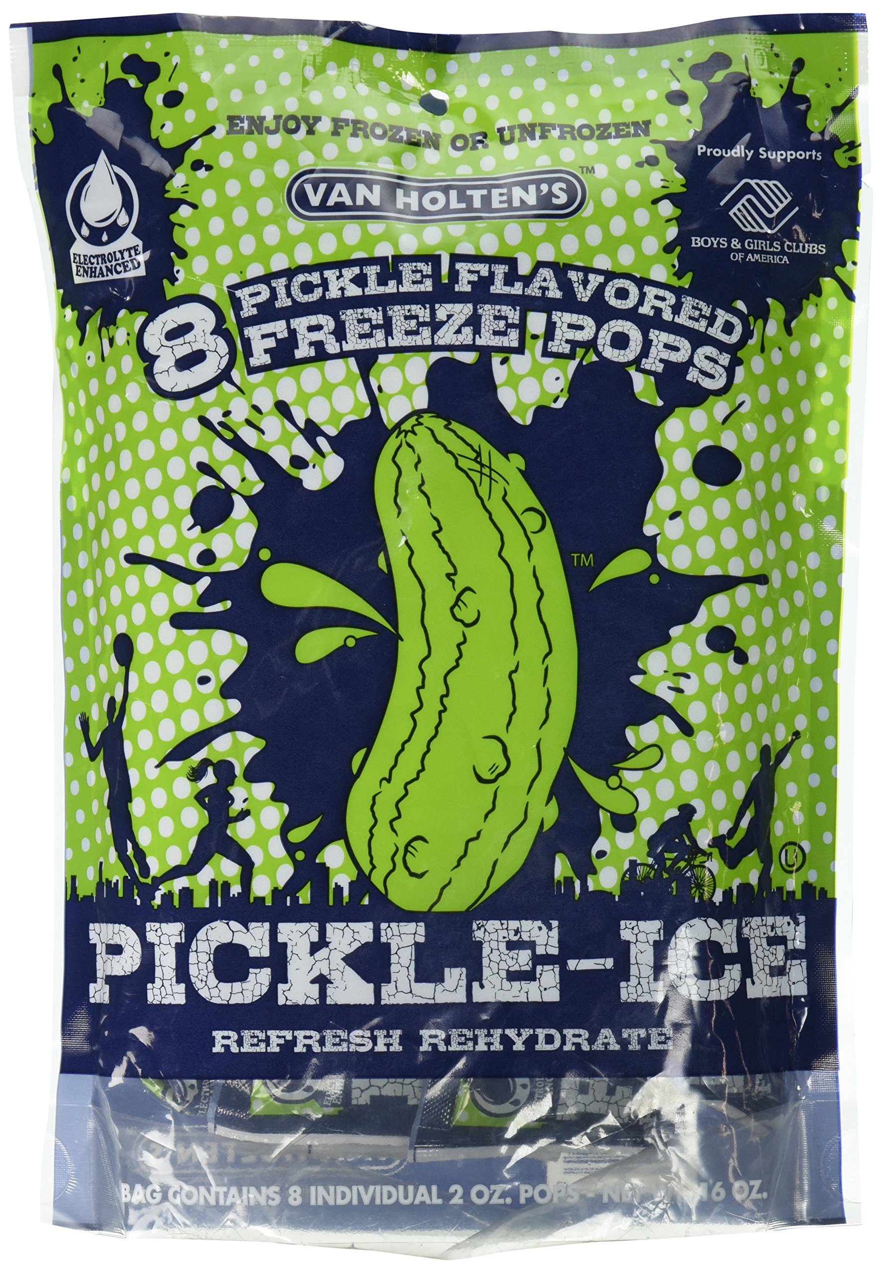 Van Holtens - Pickle Ice Freeze Pops - 8 Pack