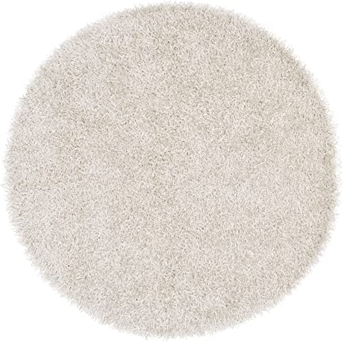 Surya VIV-803 Vivid White 10-Feet Round Area Rug