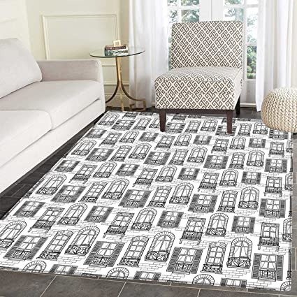 Amazon Com Geometric Area Rug Carpet Apartment Building Urban