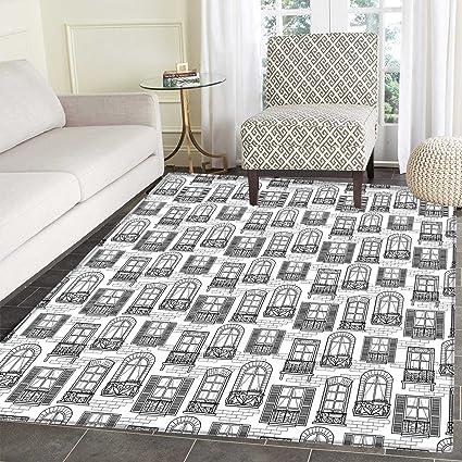 Amazon Com Geometric Area Rug Carpet Apartment Building Urban