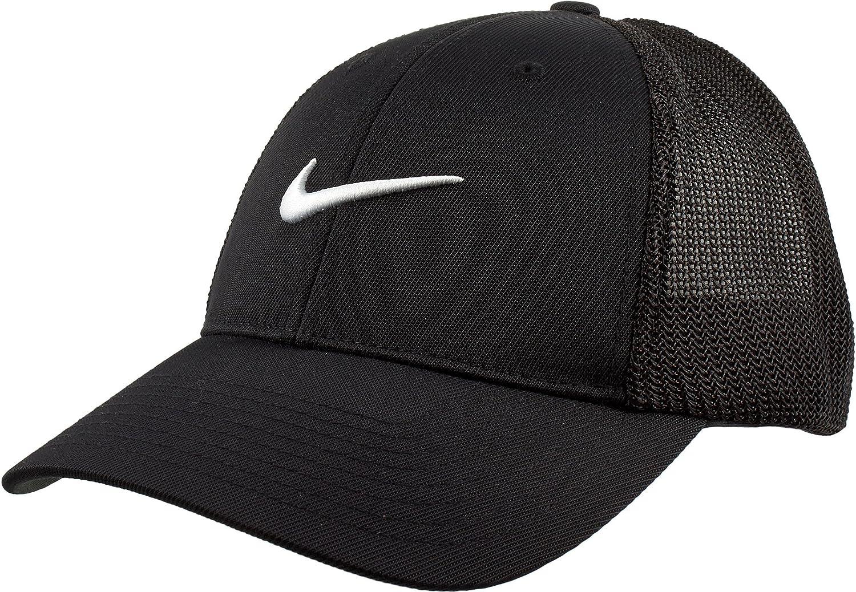 b8b214a059005 Amazon.com: Nike Men's Flex Fit Golf Hat, (Black, Small): Sports ...