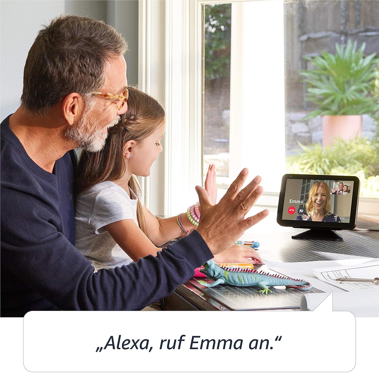 EZVIZ ezTube 1080p /Überwachungskamera Echo Show 8 funktioniert mit Alexa Anthrazit Stoff