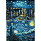 5D DIY Diamond Painting by Number Kits, Meisjun Full Drill Starry Night Embroidery Painting Crystal Rhinestone Pictures Cross Stitch Arts Craft Supply for Home Wall Decor (C)