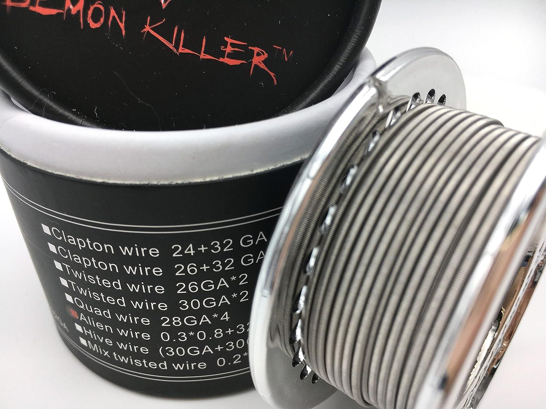 Vape Alien Wire, Louzedaya Alien alambre DIY alambre de la bobina de alambre 15 pies 0.3 * 0.8 + 32GA con algodón Kanthal A1 alambre para RDA, RBA, atomizador RDTA: Amazon.es: Bricolaje y herramientas