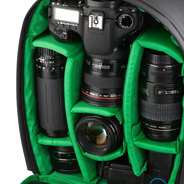 Rivacase M107460 - Mochila para cámara réflex, color negro: Amazon ...