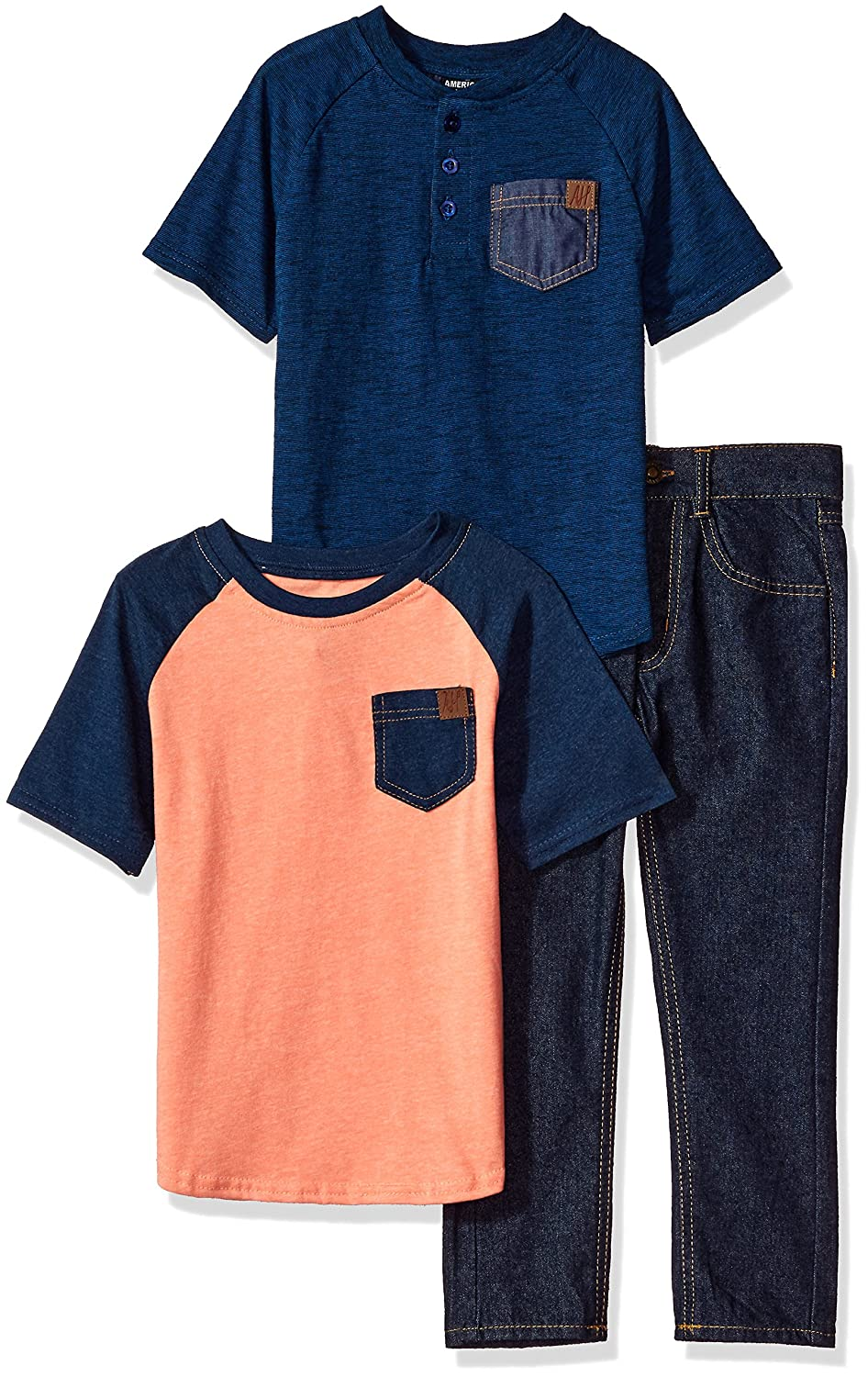 American Hawk Boys' T-Shirt and Pant 3 Piece Set (More Styles Available)