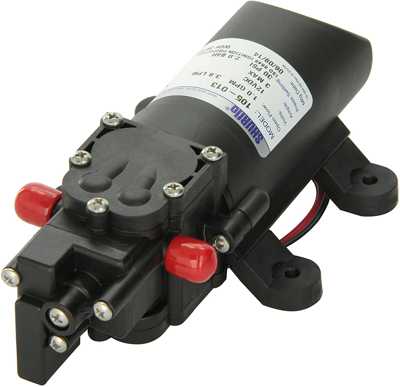 Shurflo 1202.1009 105-013 105 SLV Bomba de Agua Dulce-1.0 GPM, 12 VDC