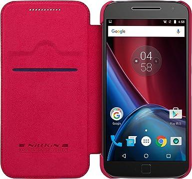 NILLKIN Qin Funda de Piel con Tapa para Motorola Moto G4 Plus ...