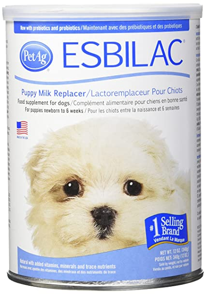 esbilaca powder milk replacer for puppies dogs 12oz