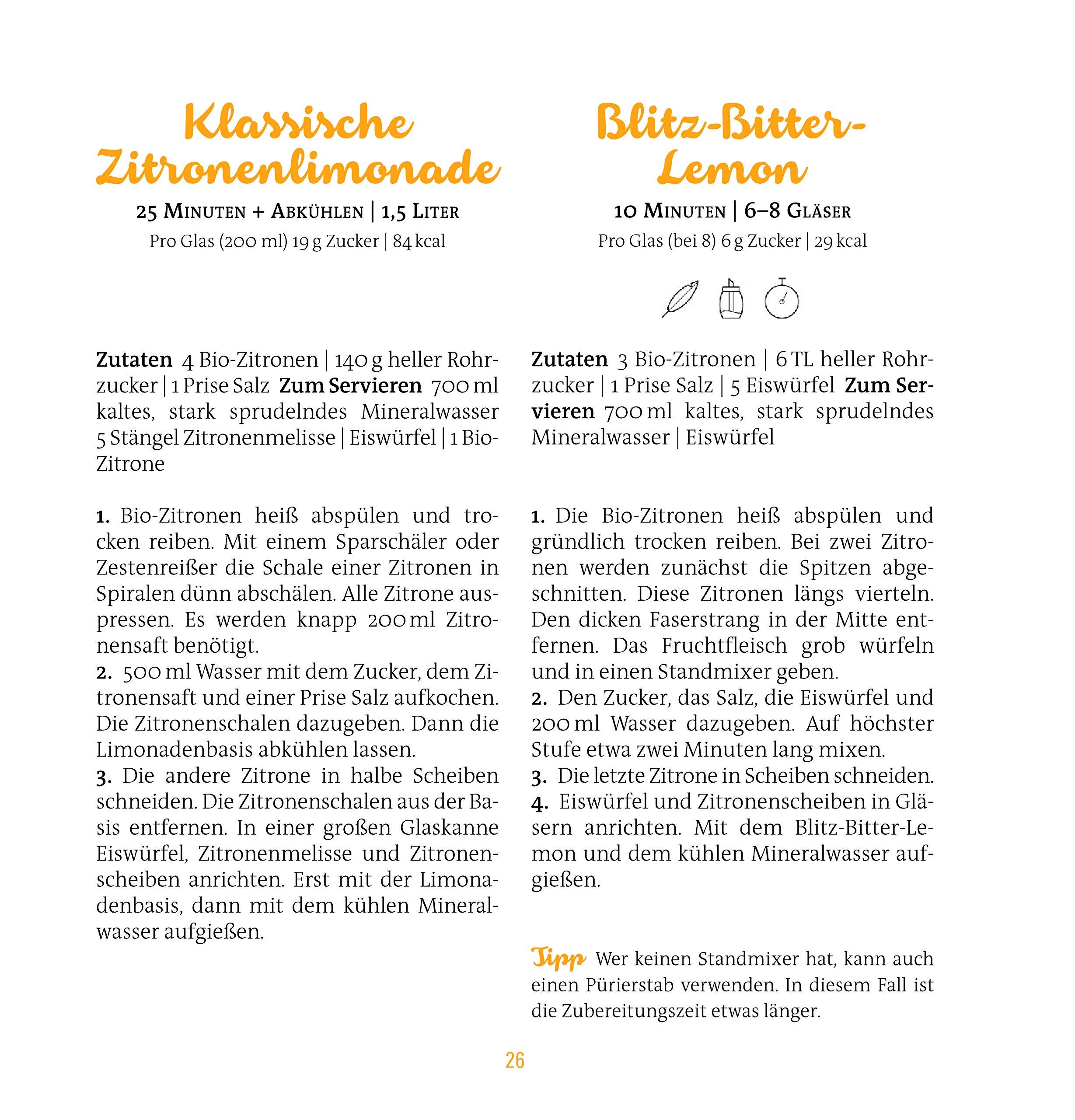 Limonaden, Eistees & Fassbrausen: 100 % handgemachte Erfrischung ...