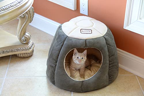Armarkat Cat Bed - Laurel Green & Beige