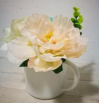 Jolie Maison Classique Pivoine Fleur artificielle avec pot ...