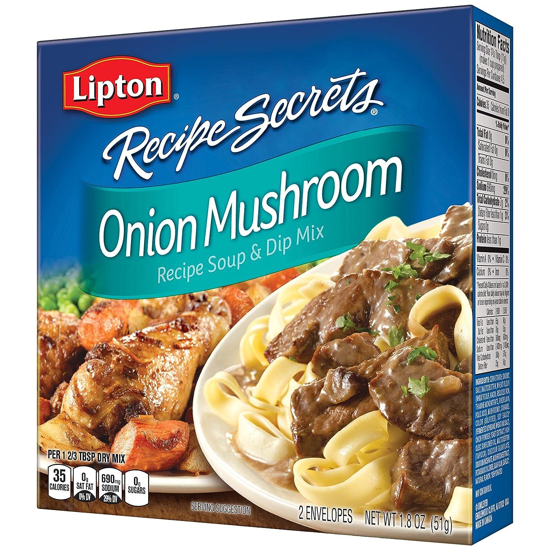 Lipton Recipe Secrets Soup and Dip Mix, Onion Mushroom 1.8 oz, Pack of 12