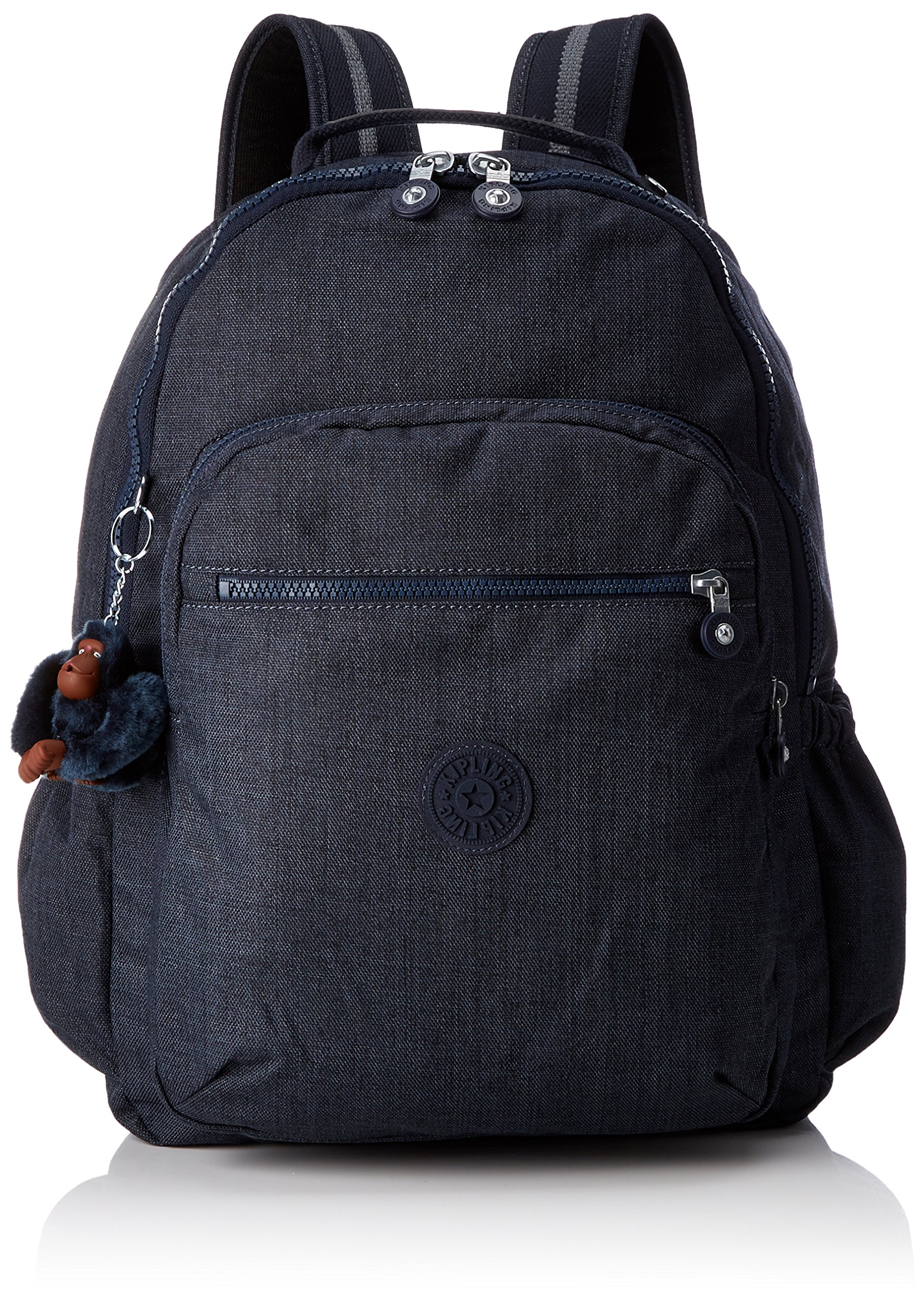 Kipling Seoul Up Large Backpack With Laptop Protection Jeans True Blue