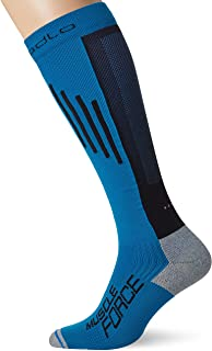 Odlo Chaussettes Extra Long Running Muscle Fo Compression Mixte Blue Jewel/Noir FR (Taille Fabricant : 39-41) ODLO4|#Odlo 777160