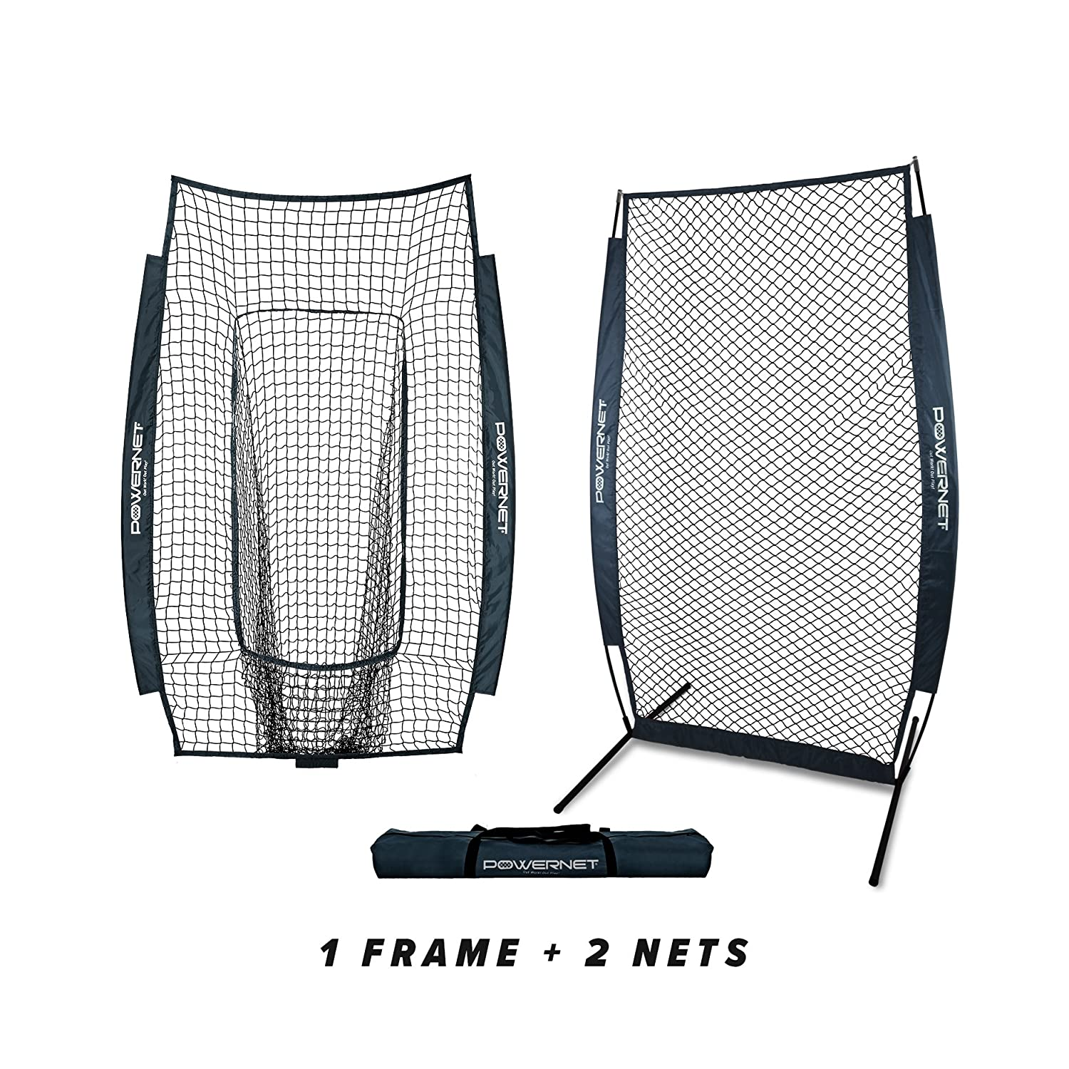 Navy PowerNet I-Screen w Frame + Infielder Net Bundle