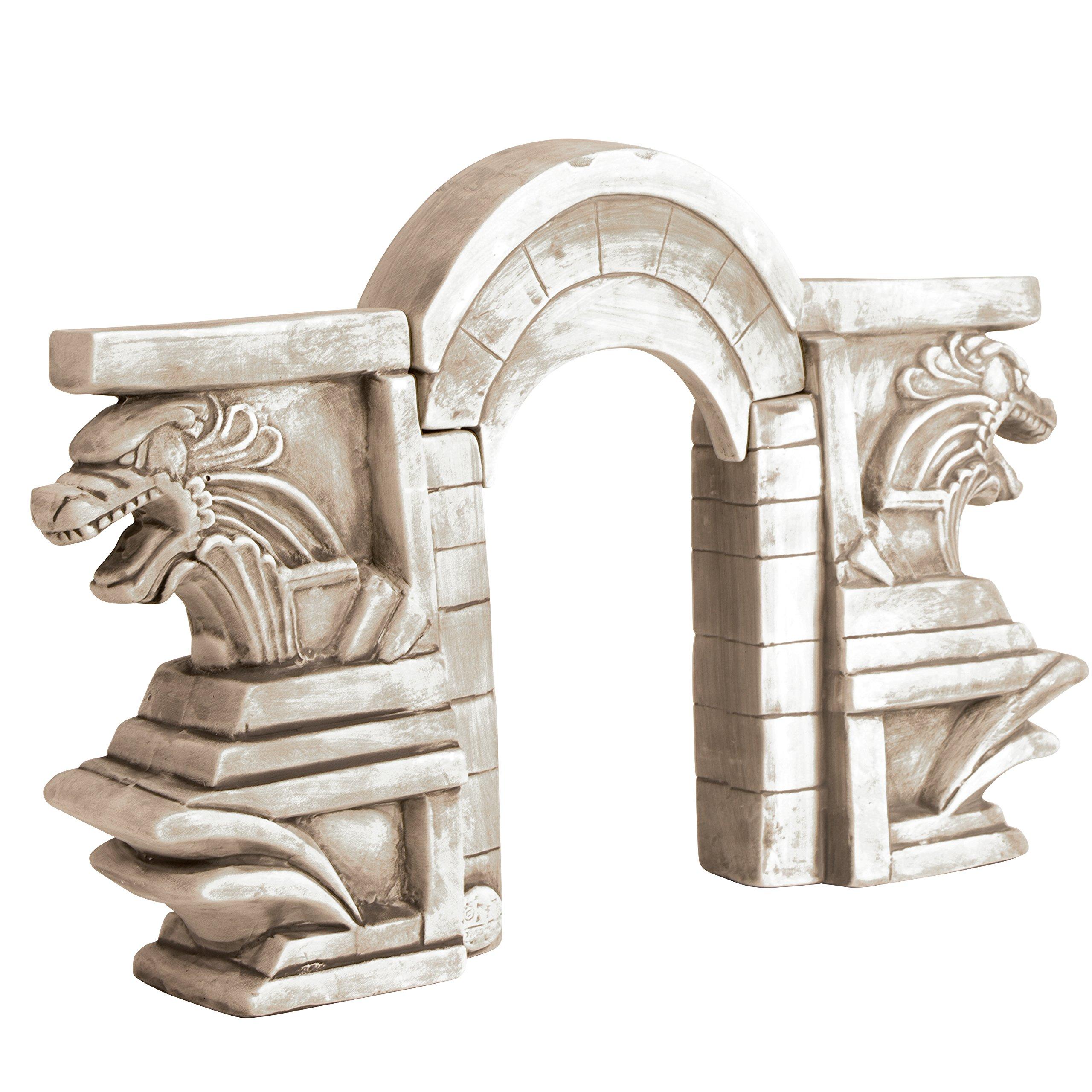 Marina Ceramic Ornaments, 3 Piece Stone Dragon Gate by Marina